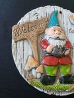 Welcome to my Garden Gnome Plaque